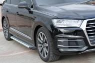 Yan Koruma Bariyeri, Yan Basamak - Audi Q7 2016 Model Yan Basamak Alüminyum Noktalı