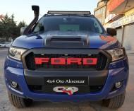 Panjur - Ford Ranger Ledli Siyah Ön Panjur Kırmızı Yazılı