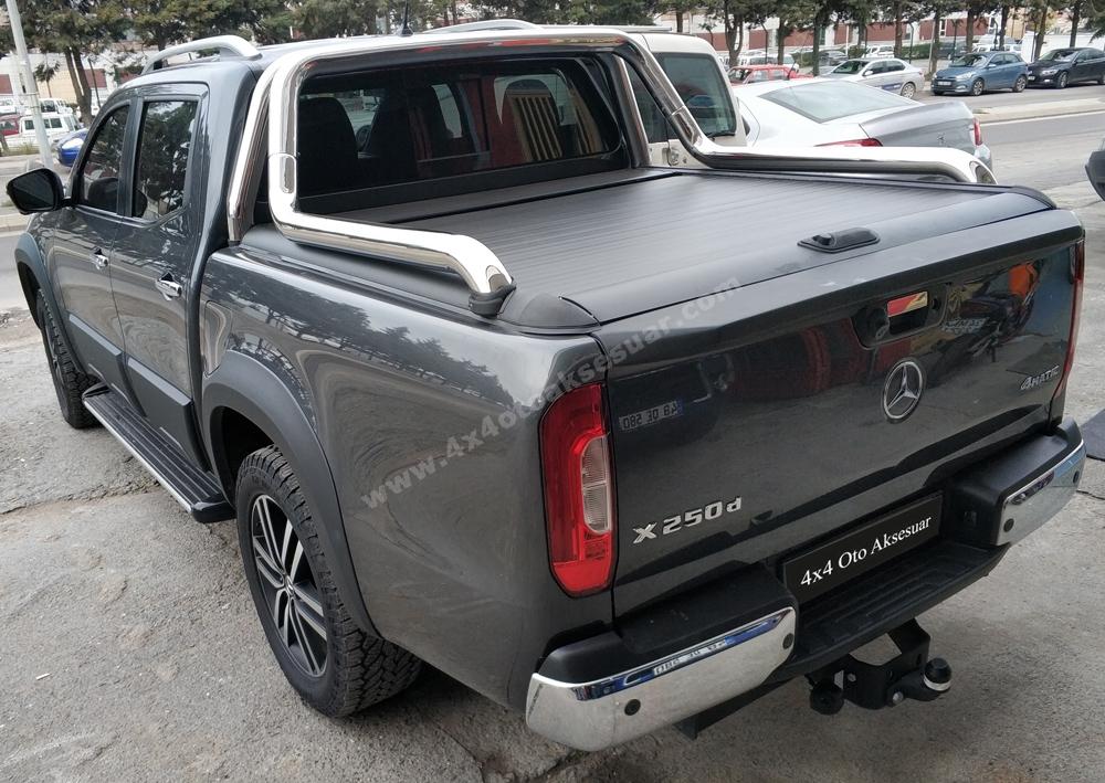 Mercedes Xclas İthal Sürgülü Kapak + Krom Rollbar