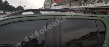 Toyota Hilux'a Uyumlu Port Bagaj Çıtası Siyah Alüminyum