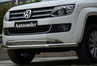 Ön Koruma Bariyeri - Volkswagen Amarok Çiftli Krom Ön Koruma Amarok Yazılı