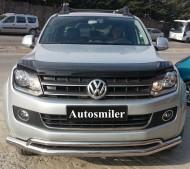 Ön Koruma Bariyeri - Volkswagen Amarok Çiftli Krom Ön Koruma Yazısız